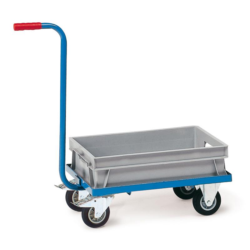 Griffroller fetra® mit Kunststoffkasten. Tragkraft 250kg, Ladefläche 600x400mm