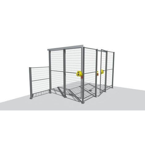 Griglia di protezione macchine TROAX® Profi