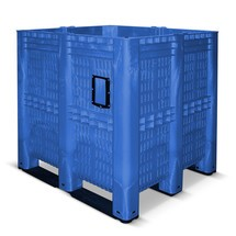 Grossbehälter aus Polyethylen, 1.400 Liter, mit Traversen, durchbrochen
