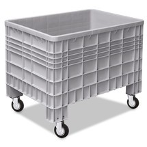 Großbehälter aus Polyethylen, mit Rollen