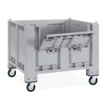 Grossbehälter aus Polypropylen, 550 Liter, mit Rollen