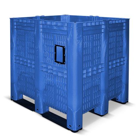 Großbox durchbrochen mit Kufen. Maß 1300 x 1150 x 1250 mm. 1400 Liter