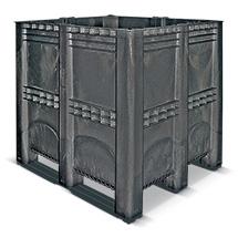 Großbox geschlossen mit Kufen. Maß 1300 x 1150 x 1250 mm. 1400 Liter