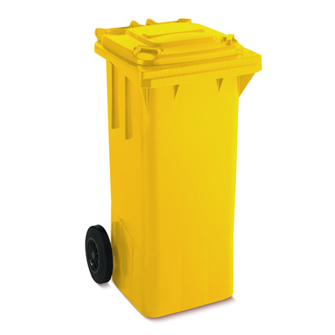 Großmülltonne aus Kunststoff mit 2 Rädern, 80 Liter, diverse Farben