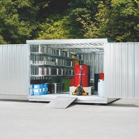 Großraum-Umweltcontainer HxBxT 2300x3005x6520 mm