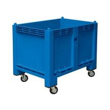 Grote bak van polyethyleen, 550 liter, met wielen