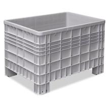 Grote container met 4 poten. Afmetingen 1200 x 800 x 800 mm (lxbxh)