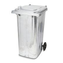 Grote vuilnisbak, 240 liter, vuurverzinkt