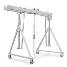 Grue à portique en aluminium avec double support, mobile