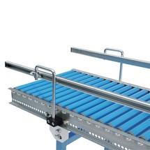 Guiamento lateral de perfil em C para transportadores de roletes leves e pequenos e transportadores de roletes leves