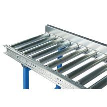 Guiamento lateral de perfil em U para transportador de rolos de cargas pesadas