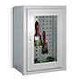 Hängeschrank Sichtfenster 600x800x300mm, Rückwand gelocht