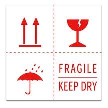 """Haftetiketten """"Fragile + Keep dry + Regenschirmsymbol + Pfeile oben"""""""