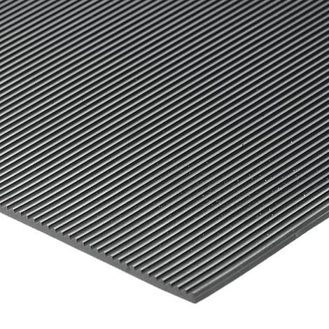 Halkfri matta, naturgummi, räfflad