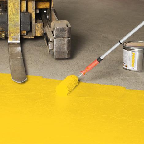Hallenboden-Farbbeschichtung PROline-paint. Zwei Komponenten