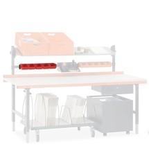Halteschiene mit Sichtlagerkästen, für Hüdig + Rocholz Packtisch-System