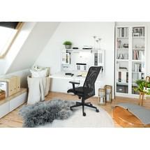Hammerbacher Büromöbel-Set 'Home-Office 2', Wandschreibtisch und Bürodrehstuhl