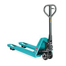 Handhubwagen Ameise®, Tragkraft 2.000 kg, Gabellänge 1.150 mm, Nylon, Einfachrollen, RAL 5018 türkisblau, B-Ware
