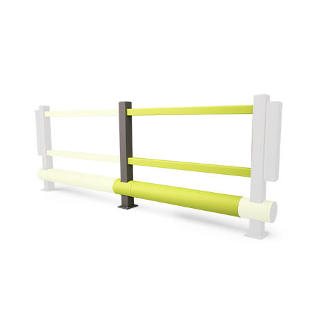 Handlauf aus Kunststoff, Inkl. Einzelplanke Anbau-Set, 1500 mm