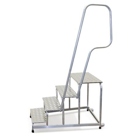 Handlauf für Montagetritt KRAUSE® mit Gitterroststufen