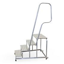 Handlauf für Montagetritt mit Gitterroststufen