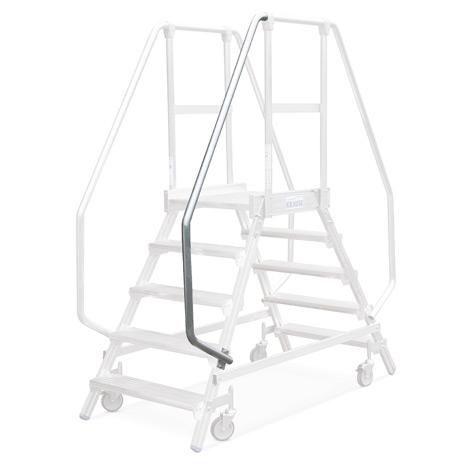 Handlauf für Podestleiter KRAUSE ® mit Geländer + Rollen. Für rechts oder links