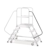 Handlauf für rollbare Podesttreppe Zarges mit 4-6 Stufen