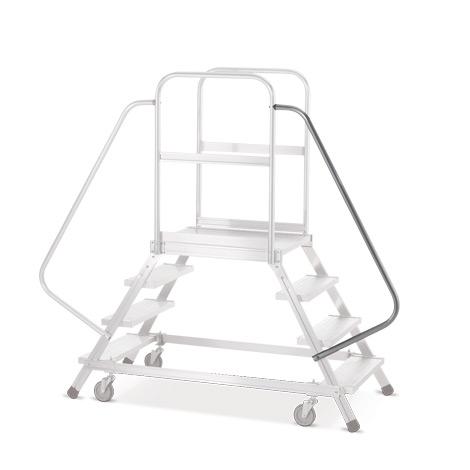 Handlauf für rollbare Podesttreppe Zarges mit 7-8 Stufen