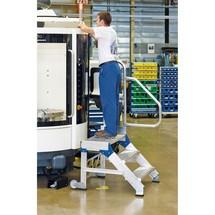 Handlauf mit Geländer für Schwerlast-Sicherheitstreppe ZARGES