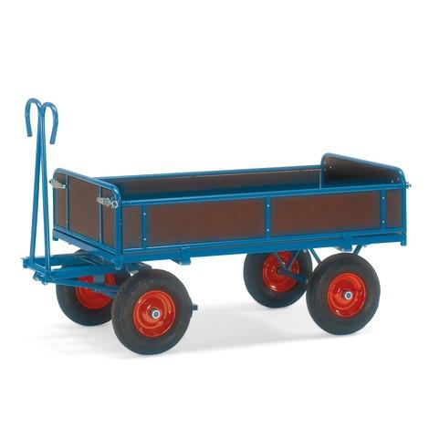 Handpritschenwagen fetra® mit 3 abklappbaren Wänden