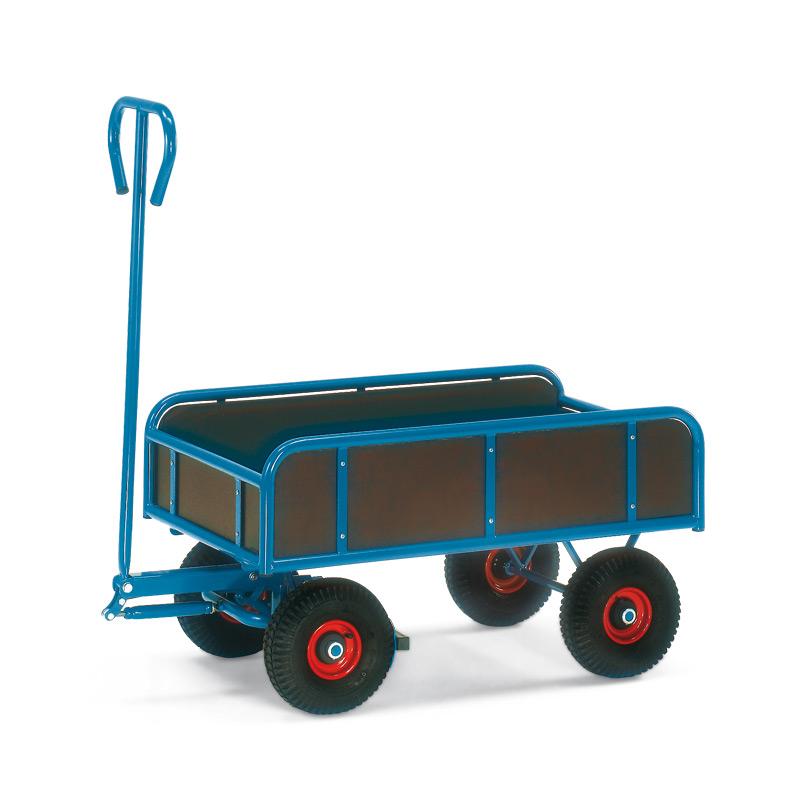 Handpritschenwagen fetra® mit 4 Bordwänden. Tragkraft 400 kg