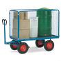 Handpritschenwagen fetra® mit 4 Drahtgitterwänden. Tragkraft bis 1250 kg