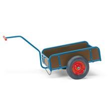 Handtrekwagen fetra® met 4 houten wanden. Capaciteit 200 of 400 kg
