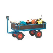 Handtrekwagen fetra® met 4 houten wanden. Capaciteit tot 1250 kg