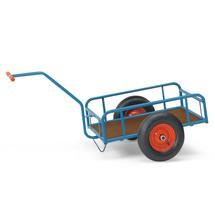 Handtrekwagen fetra® met 4 stalen buizen. Capaciteit 200 of 400 kg