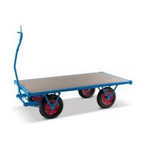 Handtrekwagen voor zware lasten met trekoog. Capaciteit 1500 kg