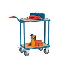 Handwagen fetra®, cap.200 kg, laadvlak 600 x 450 mm, 2 houten platformen