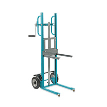 Handwinden-Hubkarre Ameise® mit Gabelaufnahme, Tragkraft 150 kg