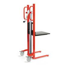 Handwinden-Materialheber mit Plattform. Tragkraft bis 100 kg.