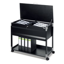 Hanging file trolley for 100 files + file tray