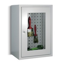 Hangkast PAVOY met kijkvenster, hxbxd 600 x 400 x 300 mm, geperforeerde achterwand