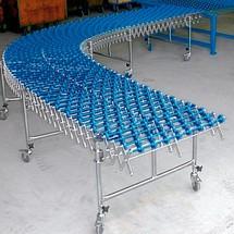 Harmonica wieltjesbanen, draagrollen van buizenstaal, baanbreedte 300 mm
