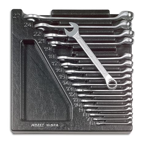 HAZET® Kurzer-Ringmaulschlüssel-Satz, 18-teilig