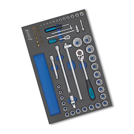 HAZET®  Mechanikerwerkzeug-Grund-Sortiment 56-teilig