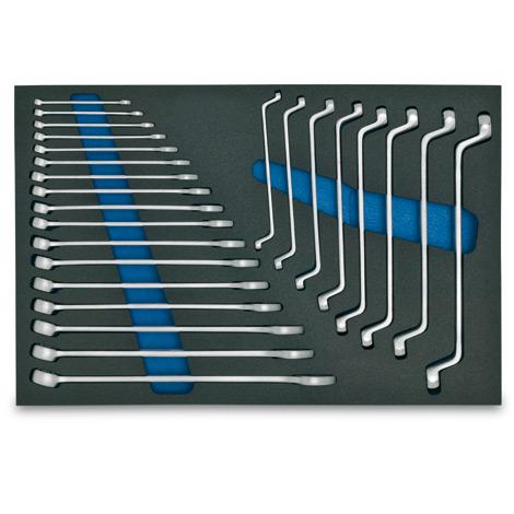 HAZET® Ringmaulschlüssel-Sortiment, 25-teilig für Werkzeugwagen