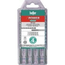 HELLER Hammerbohrersatz 4Power, 5-tlg.