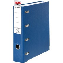 herlitz Doppelordner max.file protect, mit Kunststoffbezug
