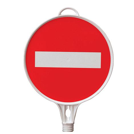 Hinweisschild Durchgang verboten, Rund