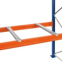 Hĺbková podpora pre paletový regál SCHULTE typu S, bočné skladovanie paliet