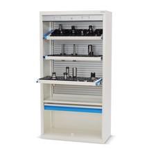 Hochschrank für CNC-Werkzeuge mit Kunststoffrollladen, HxBxT 1.950 x 1.000 x 500 mm